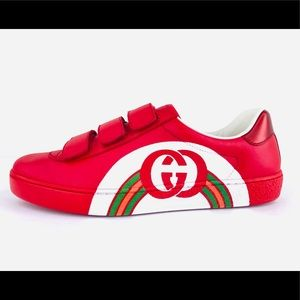Gucci Ace Strap Interlocking GG Rainbow Sneakers